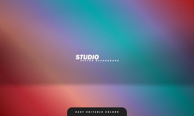 Leerer farbiger studioraumhintergrund, der als hintergrund für die anzeige ihrer produkte verwendet wird