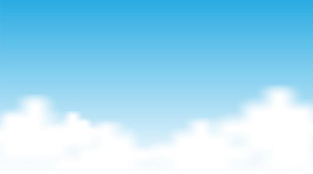 Leerer himmelshintergrund mit wolke