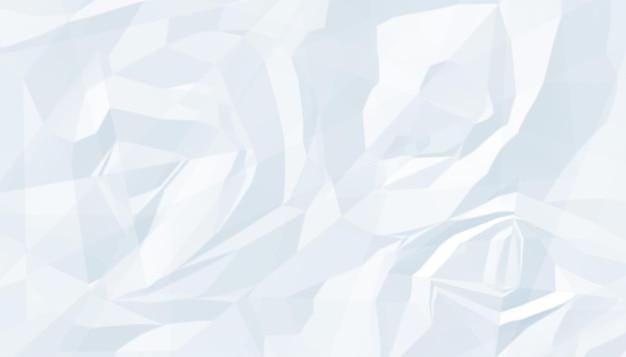 Leerer hintergrund der weißen zerknitterten papierbeschaffenheit