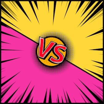 Leerer hintergrund im comic-stil. versus illustration. element für banner, poster, flyer. bild