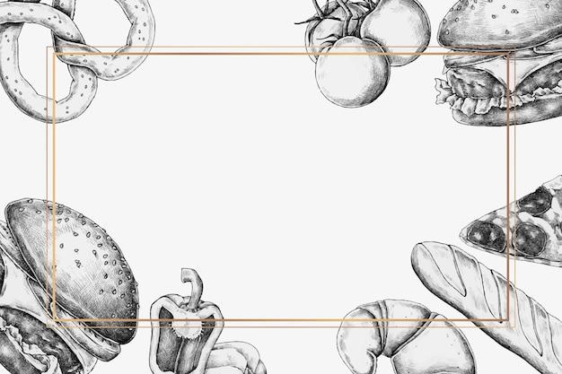 Leerer junk-food-rahmenhintergrund