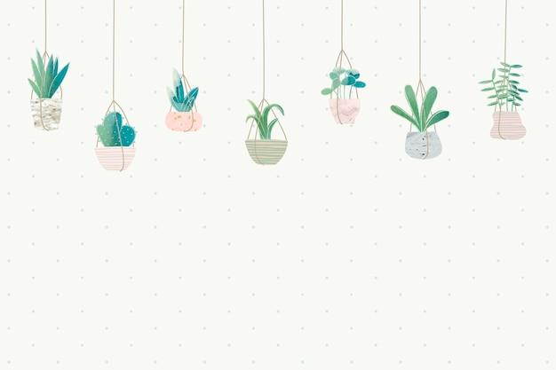 Leerer kaktusrahmen-designvektor