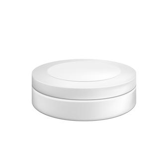 Leerer kosmetischer verpackungsbehälter für creme. abbildung isoliert