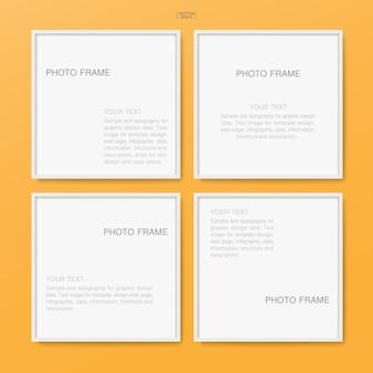 Leerer leerer fotorahmen oder bilderrahmen für posterhintergrund