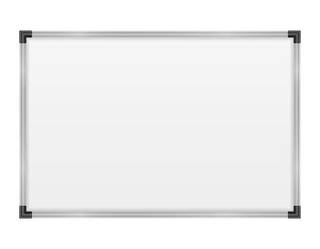 Leerer magnetischer whiteboard-marker für präsentationen, schulung und bildung, isoliert auf weiß