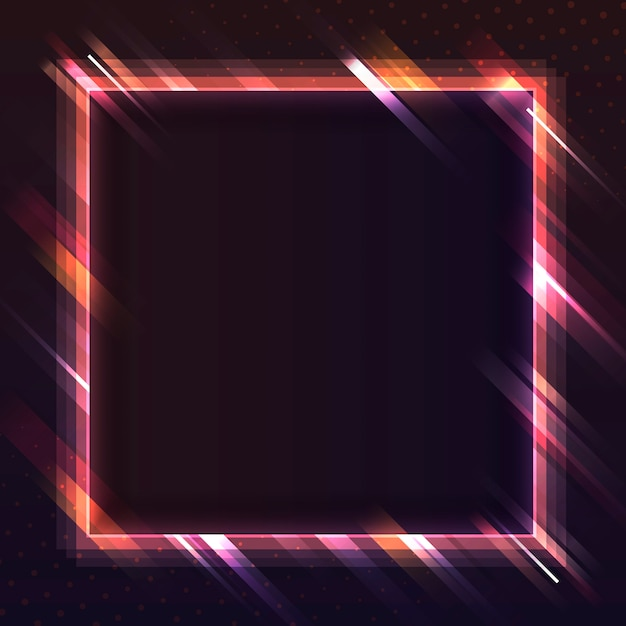 Leerer neonschildvektor