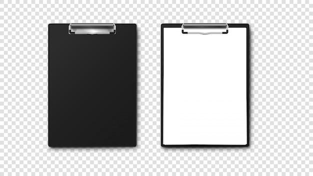 Leerer papierhalter mit papierstapel a4.