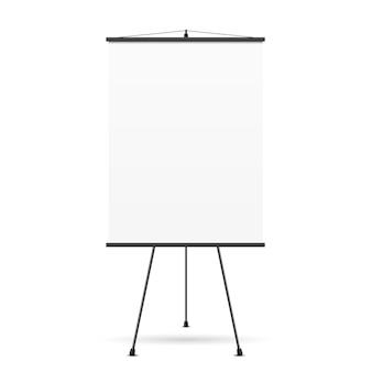 Leerer präsentationsbildschirm. whiteboard für unternehmen, leeres papier,
