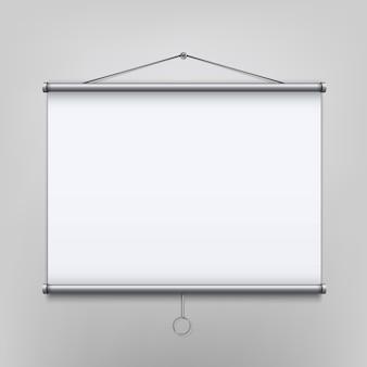 Leerer projektorbildschirm