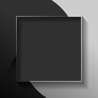 Leerer quadratischer schwarzer abstrakter rahmen