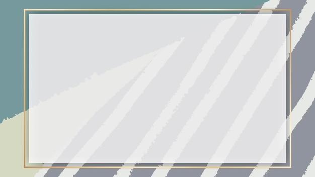 Leerer rahmen auf einem handgezeichneten linienhintergrund