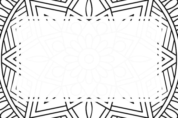 Leerer rahmenhintergrund mit mandala-verzierungsstil