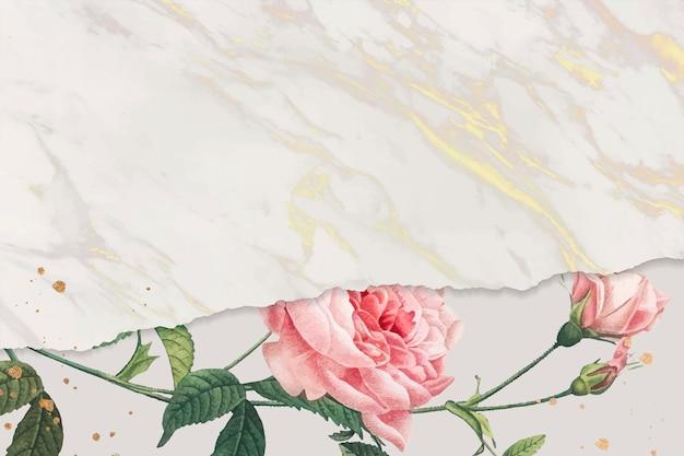Leerer rosa rosenrahmen Kostenlosen Vektoren