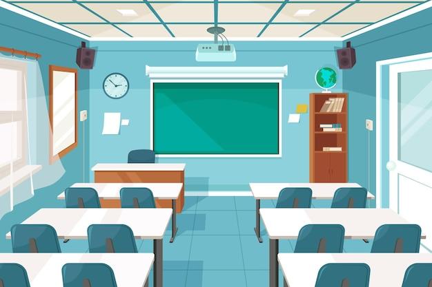 Leerer schulklassenhintergrund für videokonferenzen