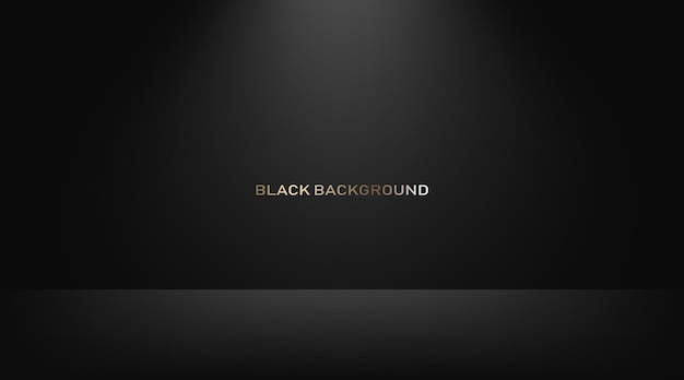 Leerer schwarzer studioraum als hintergrund für die präsentation ihrer produkte