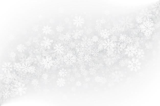 Leerer weißer hintergrund der wintersaison