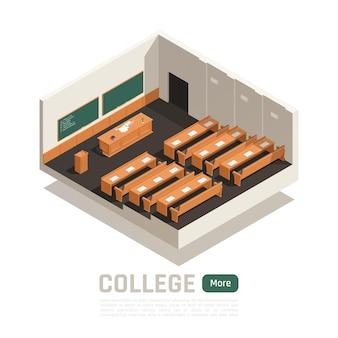 Leeres college-banner