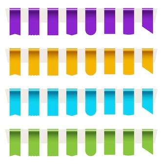 Leeres, farbiges etiketten-lesezeichen setzen