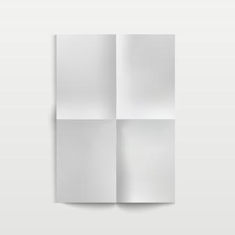 Leeres gefaltetes papier