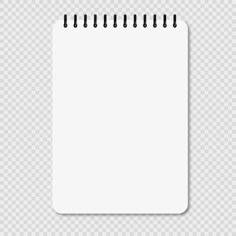 Leeres notizbuch mit schatten