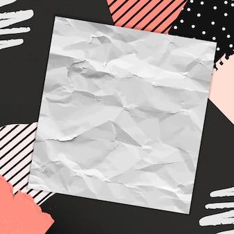 Leeres papier auf collage-hintergrund