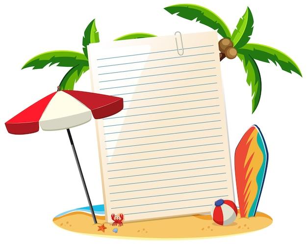 Leeres papier nicht vorlage sommerthema