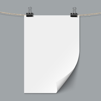 Leeres papierblatt