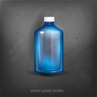 Leeres plastikwasser-flaschen-getränk, das den mineralvektorplastikgegenstand lokalisiert trinkt leere illustration des aufklebers 3d lokalisiert