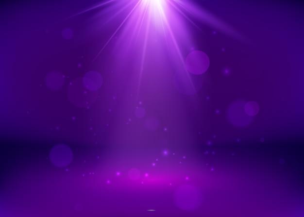 Leeres purple studio und spotlight