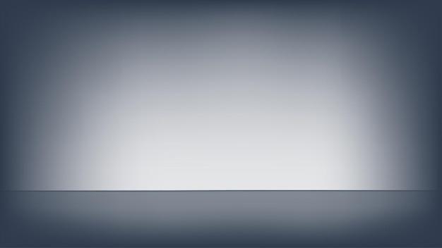 Leeres schwarzes studiozimmer. vorlage als hintergrund für die anzeige ihrer produkte.