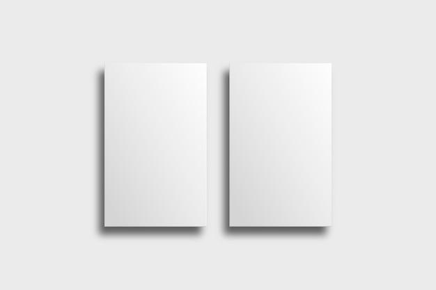 Leeres visitenkartenmodell in weißton mit vorder- und rückansicht