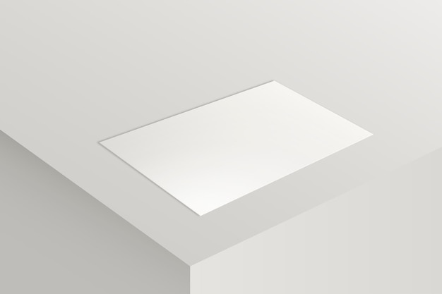 Leeres visitenkartenmodell in weißton