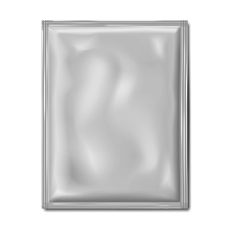 Leeres weißes beutelpaket-paketmodell flacher beutel medizinisches oder kosmetisches produktmodell für lebensmittel