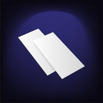 Leeres weißes faltpapier flayer