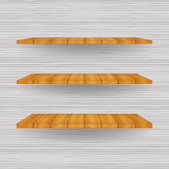 Leeres weißes ladenregal, verkaufsregale aus sperrholzrahmen