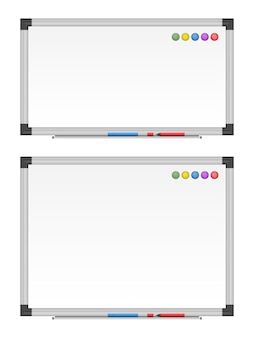 Leeres whiteboard-set