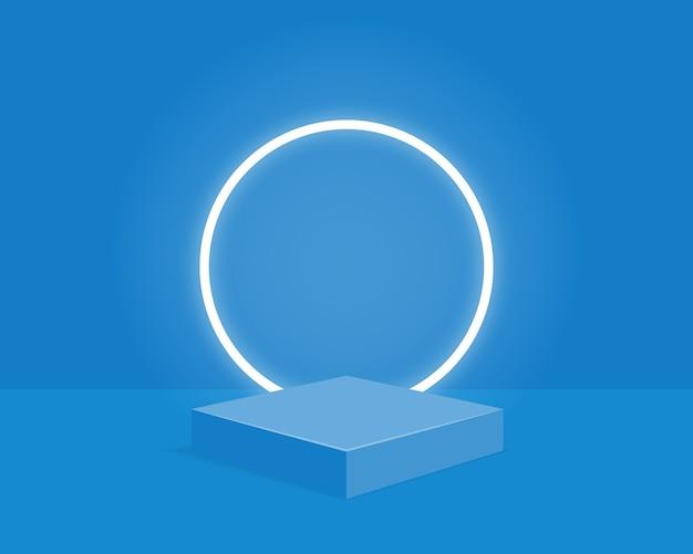 Leeres zylinderpodest. design für die produktpräsentation.
