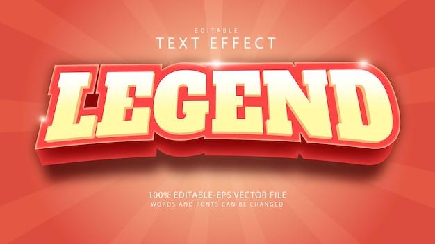 Legand bearbeitbarer texteffekt