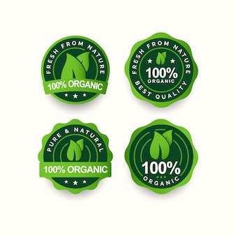 Legen sie 100 designvorlagen für bio-etiketten fest