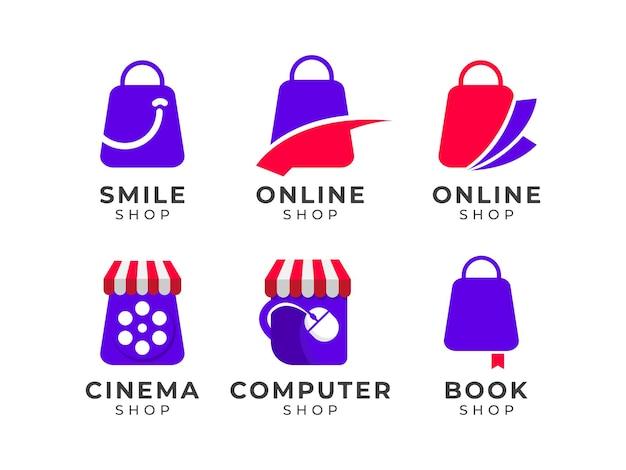 Legen sie das designkonzept für das online-shop-logo fest