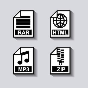 Legen sie das dokumentenformat-symbol fest