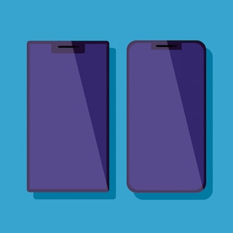 Legen sie die technologie-symbole für smartphones fest