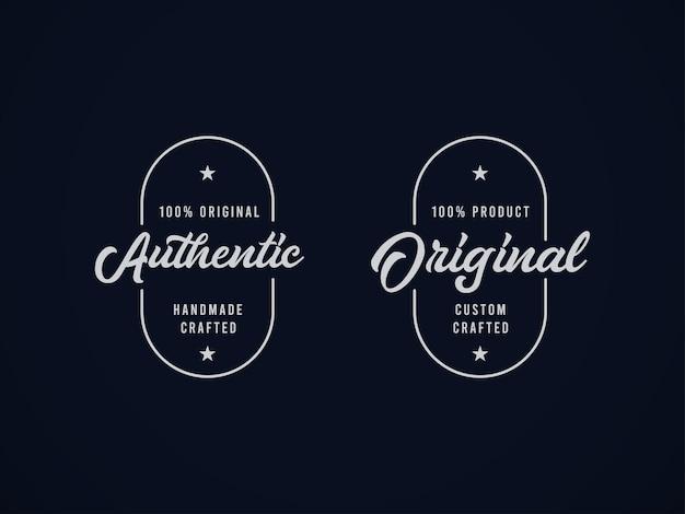 Legen sie ein hochwertiges, authentisches etikettendesignkonzept fest