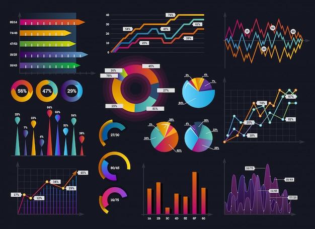 Legen sie elemente von infografiken fest