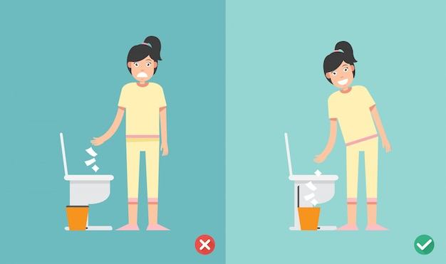 Legen sie kein tissue-papierblatt in die toilette