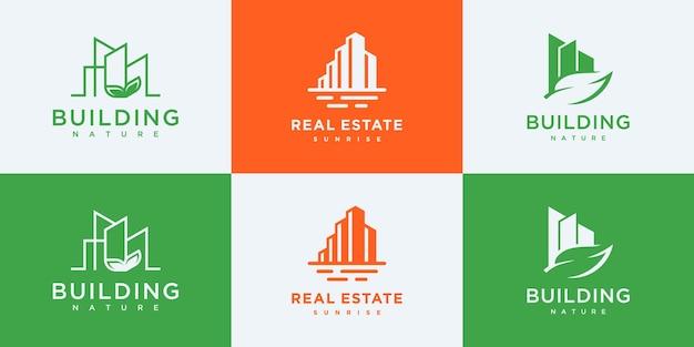 Legen sie vorlagen für das design von immobilienlogos fest.
