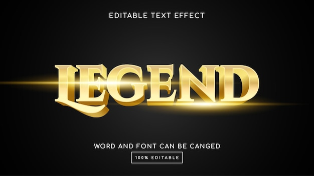 Legende 3d bearbeitbare texteffektvorlage