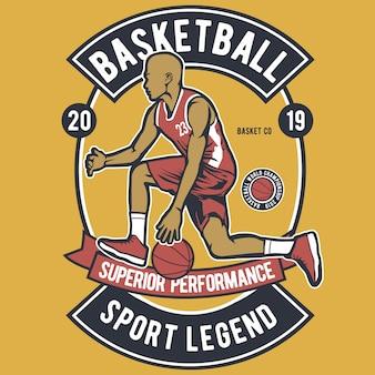 Legende des basketball-sports