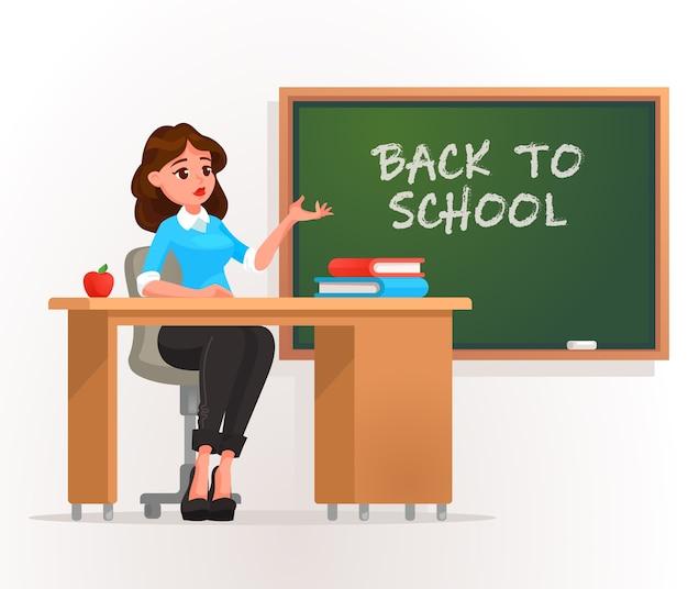 Lehrer in einem klassenzimmer