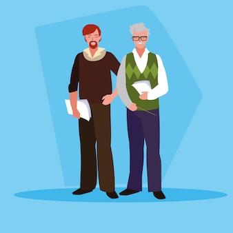 Lehrer männer avatar charakter